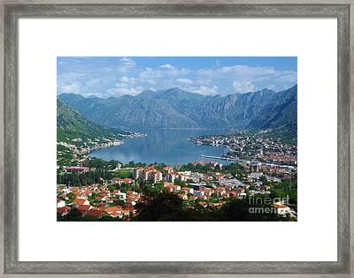 Bay Of Kotor - Montenegro Framed Print
