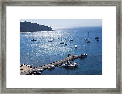 Framed Print featuring the photograph Bay Of Porto by George Katechis