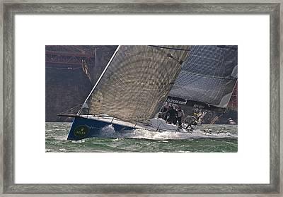 Bay Rolex Regatta Framed Print by Steven Lapkin