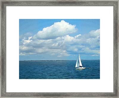 Bay Sailing Framed Print by Barbara McDevitt