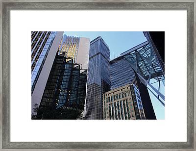 Bay Street Toronto Framed Print by Nicky Jameson