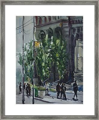 Bay Street_03.jpg Framed Print by Helal Uddin