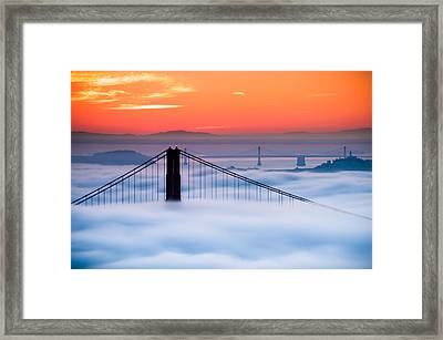 Framed Print featuring the photograph Bay Sunrise by Brian Bonham