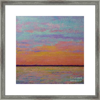 Bay Sunset Framed Print by Gail Kent