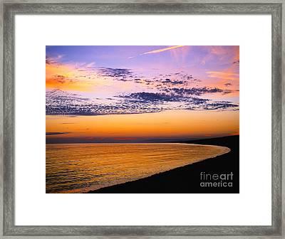 Bay Sunset Framed Print