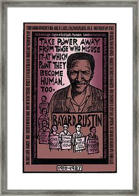Bayard Rustin Framed Print
