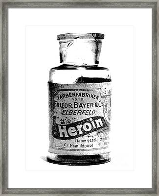 Bayer Company Sells Heroin Around 1900 Framed Print