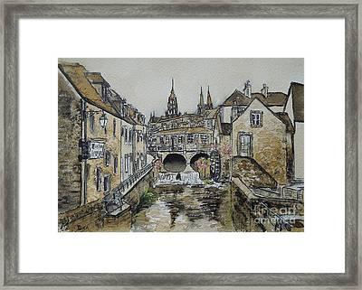 Bayeux In Coffee Framed Print