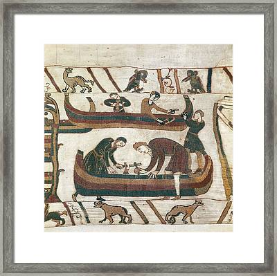 Bayeux Tapestry. 1066-1077. Making Framed Print by Everett