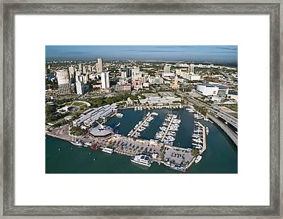 Bayfront Miami Framed Print