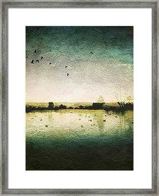 Baylands At Sunset Framed Print