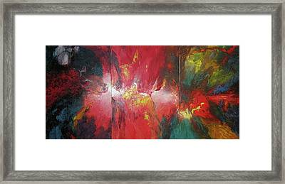 Framed Print featuring the painting Bayley - Exploding Star Nebuli by Carrie Maurer