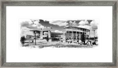 Baylor Gameday -- Bw Framed Print by Stephen Stookey