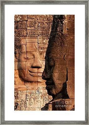 Bayon Faces 02 Framed Print
