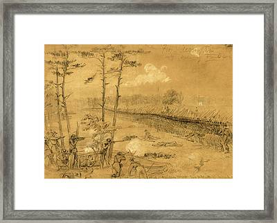 Bayonet Charge Of The 2nd Reg. Col. Hall Framed Print by Quint Lox