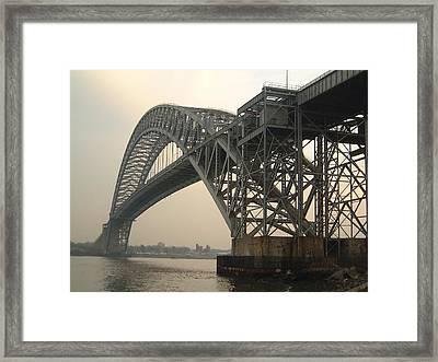Bayonne Bridge Framed Print by Wayne Gill