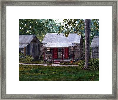 Bayou Cabins Art Breaux Bridge Louisiana Framed Print