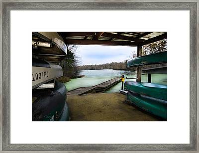 Bayou Chicot Boathouse Framed Print by Christopher Cutter