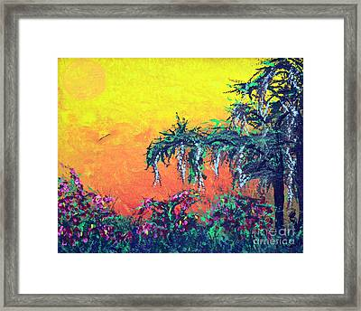Framed Print featuring the painting Bayou Honeymoon by Alys Caviness-Gober