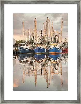 Bayou La Batre' Al Shrimp Boat Reflections 41 Framed Print