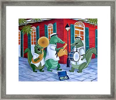 Bayou Street Band Framed Print