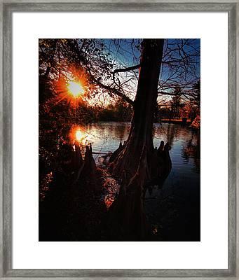 Framed Print featuring the photograph Bayou Sundown by Robert McCubbin
