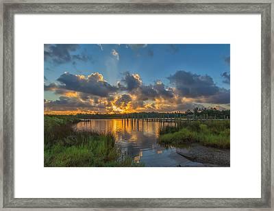 Bayou Sunrise Framed Print