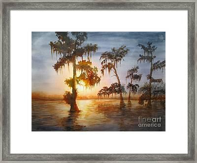 Bayou Sunset Framed Print by Mohamed Hirji
