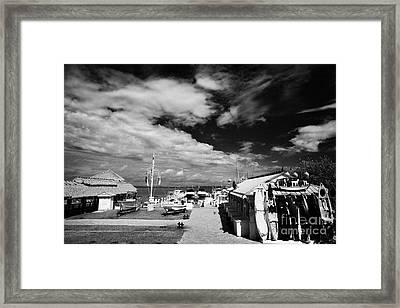 Bayside Marina Islamorada Florida Keys Usa Framed Print by Joe Fox
