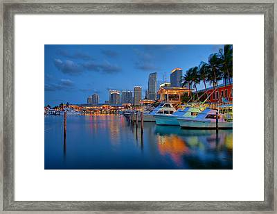 Bayside Marketplace Framed Print by Claudia Domenig