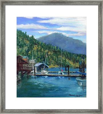 Bayview Marina Framed Print