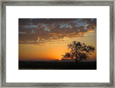 Framed Print featuring the photograph Bayview Sunset by Sonya Lang
