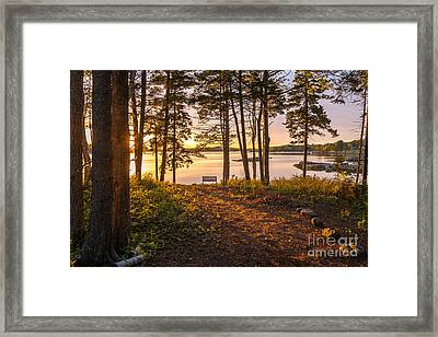 Bayview Sunset Framed Print