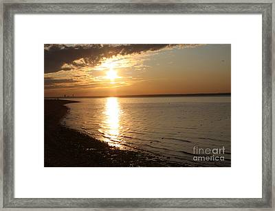 Bayville Sunset Framed Print by John Telfer