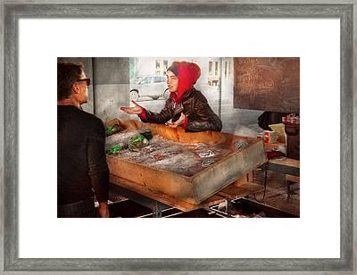 Bazaar - I Sell Fish  Framed Print