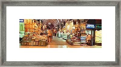 Bazaar, Istanbul, Turkey Framed Print