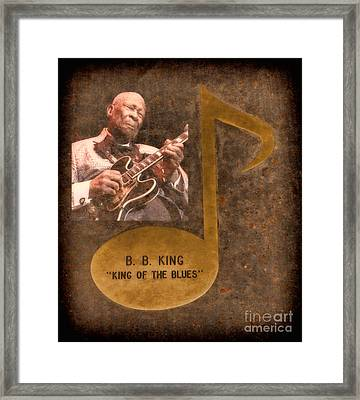 Bb King Note Framed Print