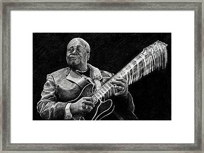Bb King Of The Blues Framed Print