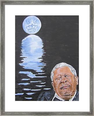 Bb King Painting Framed Print