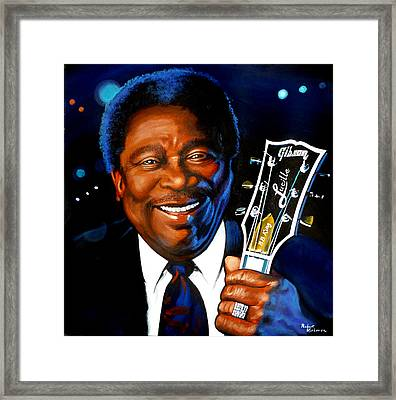 Bb King Painting Framed Print by Robert Korhonen