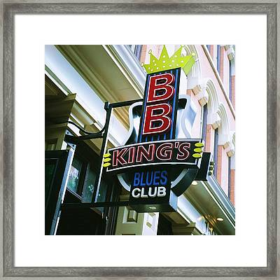 Bb King's Blues Club Framed Print by Linda Unger