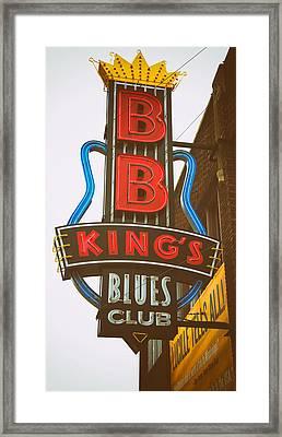 Bb King's Blues Club Framed Print