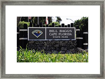 Bill Baggs State Park Florida Entrance Sign Framed Print by David Lee Thompson