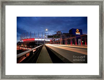 Bc Place Stadium And Rogers Arena Framed Print by Terry Elniski