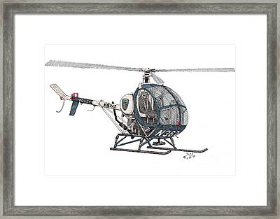 Bcpd Helicopter Framed Print