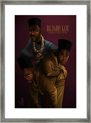 Framed Print featuring the drawing Bdk Color Bg by Nelson Dedos Garcia