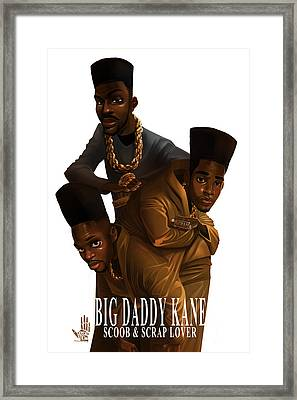 Bdk White Bg Framed Print