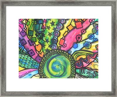 Be A Hippie Framed Print by Chrisann Ellis