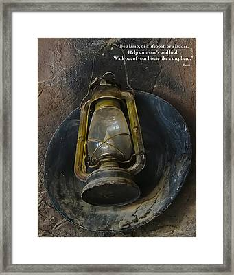Be A Light Framed Print