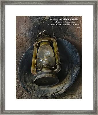 Be A Light Framed Print by Rhonda McDougall